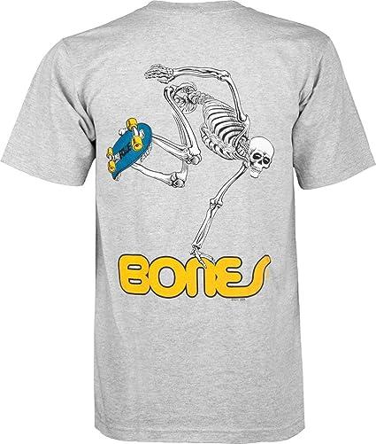 White Powell-Peralta Skateboard Skeleton T-Shirt Medium