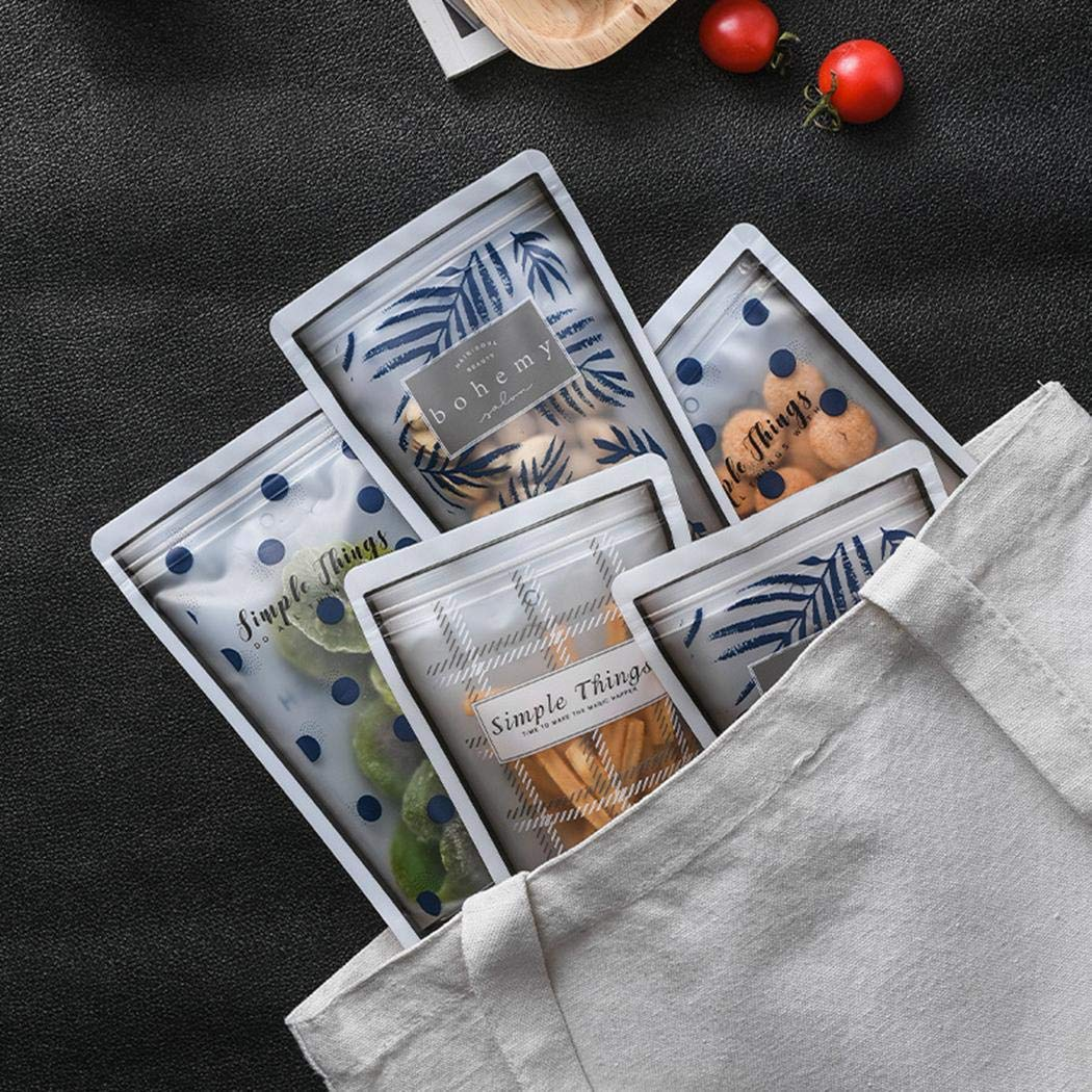 Weform 4Pcs Self-Sealing Transparent Food Packaging Moisture-Proof Sealed Storage Bag Food Savers Storage Containers