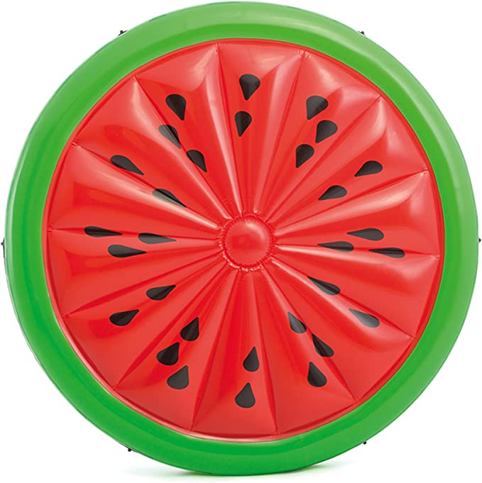 Great for Kids /& Adults Bestway Watermelon Island Inflatable Pool Float 43140E Fun Pool Party Lounge Fits Up to 3 People