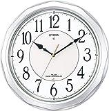 CITIZEN ( シチズン ) 電波 掛け時計 ネムリーナサニー 大きい 文字 シルバー 4MY642-019