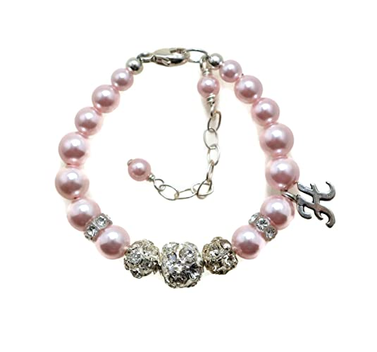 5262bc30b Elegant Baby Bracelet, Little Girls Jewelry, Personalized Baby Bracelet,  Little Girl Initial Bracelet, Baby Keepsake Gift, New Baby Gifts, Little  Girl Gifts