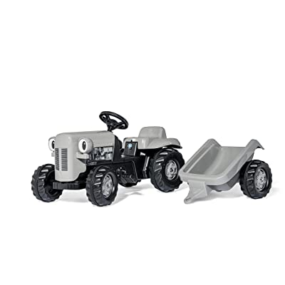 KETTLER Little Grey Fergie Pedal Tractor with Detachable Trailer: Toys & Games