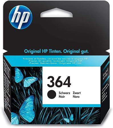 Oferta amazon: HP 364 CB316EE, Negro, Cartucho de Tinta Original, de 250 páginas, para impresoras HP Photosmart serie C5300, C6300, B210, B110 y Deskjet serie 3520