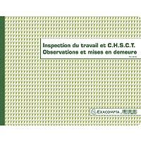 EXACOMPTA 44261 Registre Piqûre 320x 240 mm 16 pages inspection du travail Couleurs Assorties