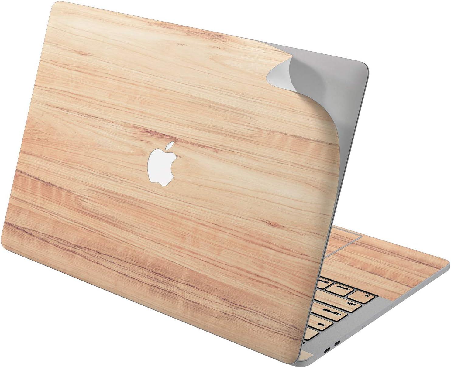"Cavka Vinyl Decal Skin for Apple MacBook Pro 13"" 2019 15"" 2018 Air 13"" 2020 Retina 2015 Mac 11"" Mac 12"" Design Natural Board Art Protective Laptop Woody Trendy Cover Realistic Texture Sticker Print"