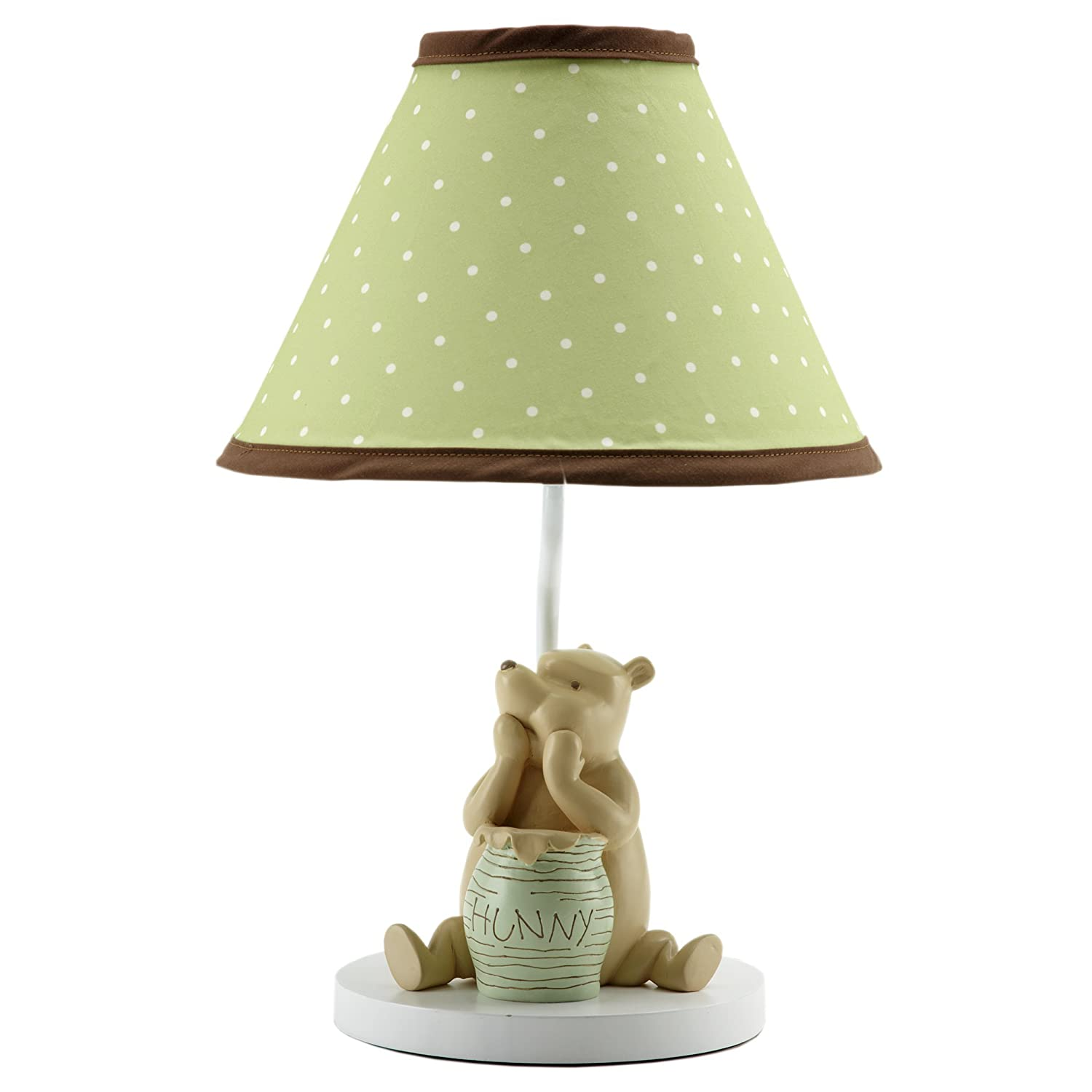 Amazon disney my friend pooh lamp and shade sageivory amazon disney my friend pooh lamp and shade sageivory discontinued by manufacturer nursery lampshades baby arubaitofo Choice Image
