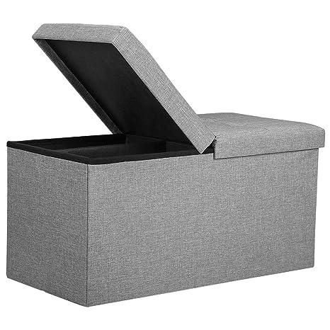 Coffee Table Toy Chest.Amazon Com Rackaphile Folding Storage Ottoman Bench Storage Chest