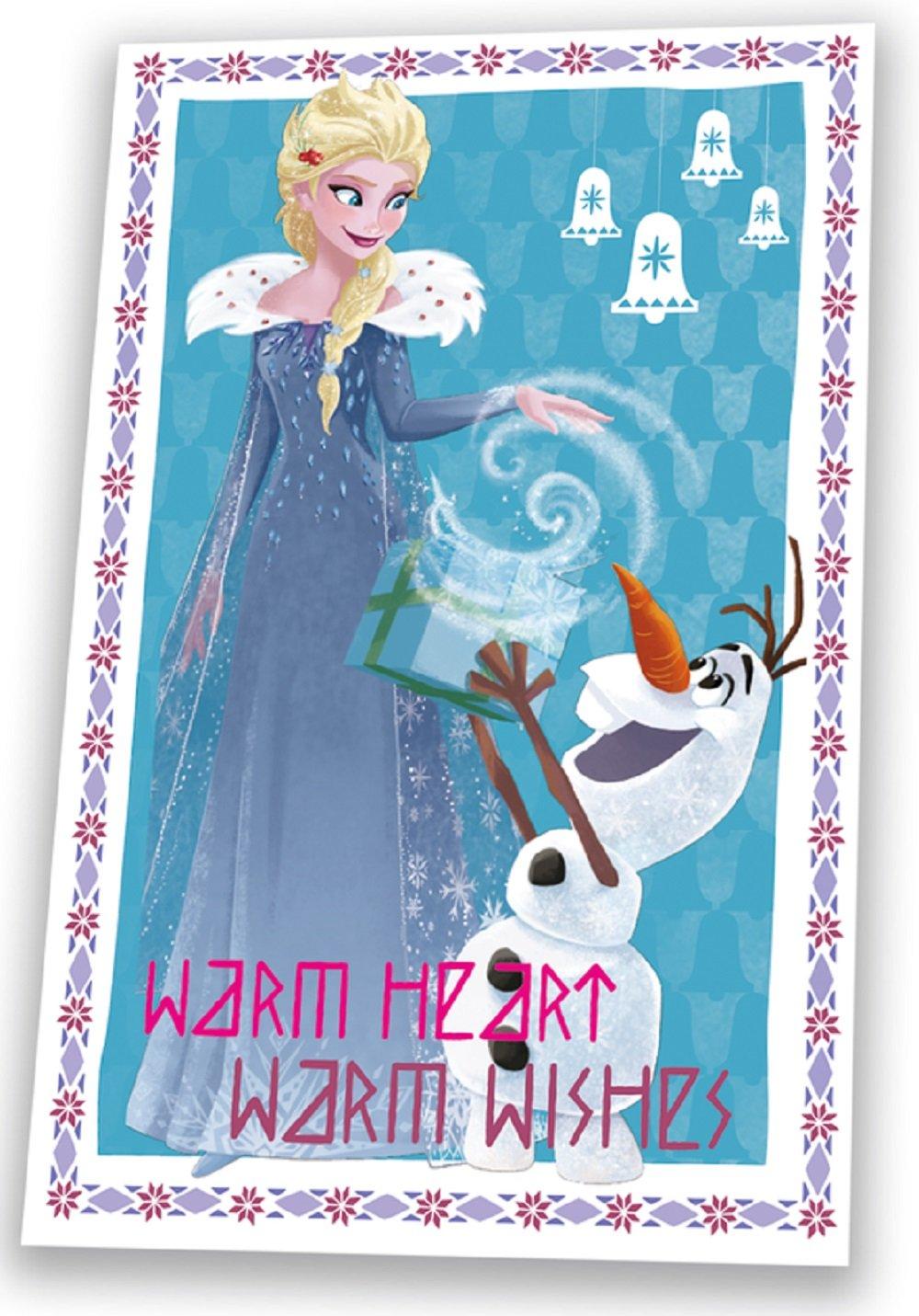 /Elsa /& Olaf c/álido coraz/ón c/álido Deseos de 150/cm x 100/cm Manta de Forro Polar Disney wd19566/Frozen/