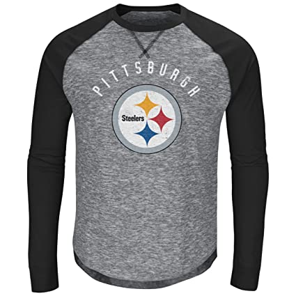 493794e7 Amazon.com : Majestic Corner Raglan Longsleeve - Pittsburgh Steelers ...