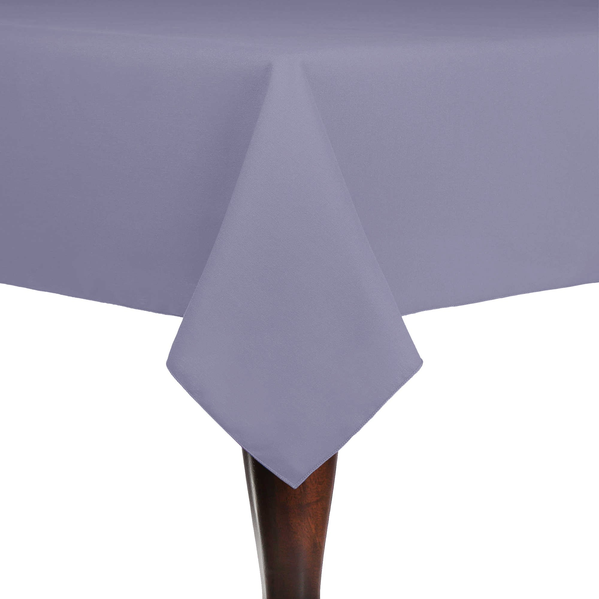 Ultimate Textile (10 Pack) Cotton-feel 60 x 90-Inch Rectangular Tablecloth - for Wedding and Banquet, Hotel or Home Fine Dining use, Lilac Light Purple