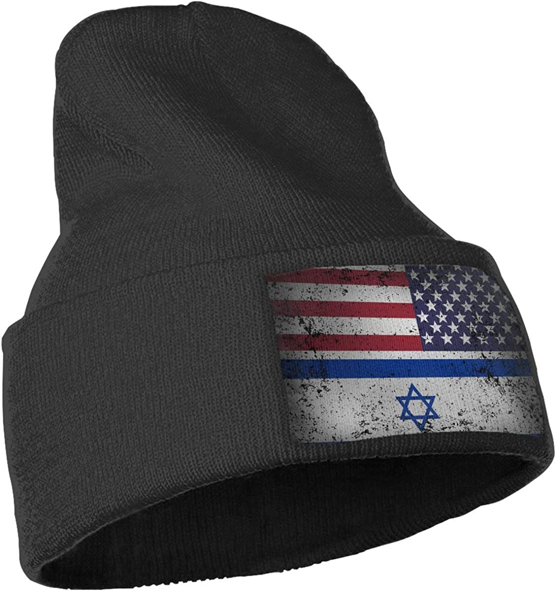 American Grown with Israeli Roots Beanie Cap Hat Men Women Knit Hats Stretchy /& Soft Beanie
