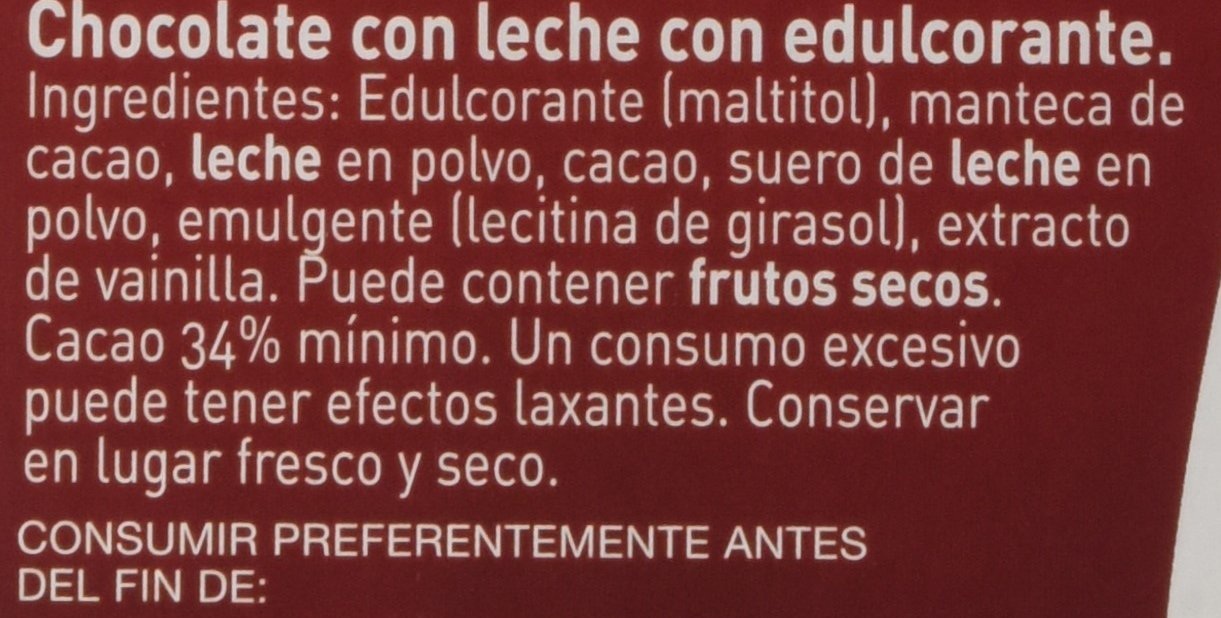 Nestlé Sin Azúcares - Tableta De Chocolate Con Leche 125 g: Amazon.es: Alimentación y bebidas