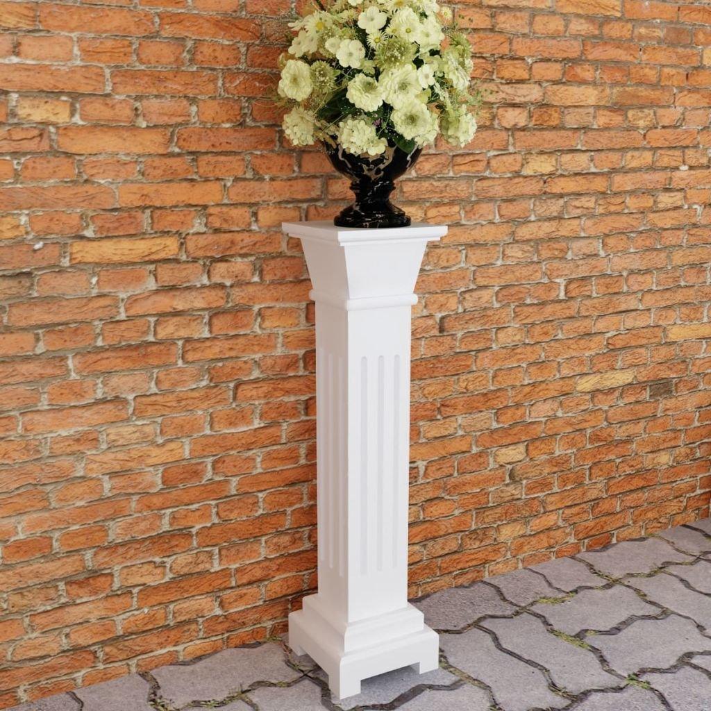 Festnight Wei/ß Klassischer Quadratischer S/äulen Pflanzenst/änder MDF Blumen Holzs/äule Blumenst/änder 17 x 17 x 66 cm