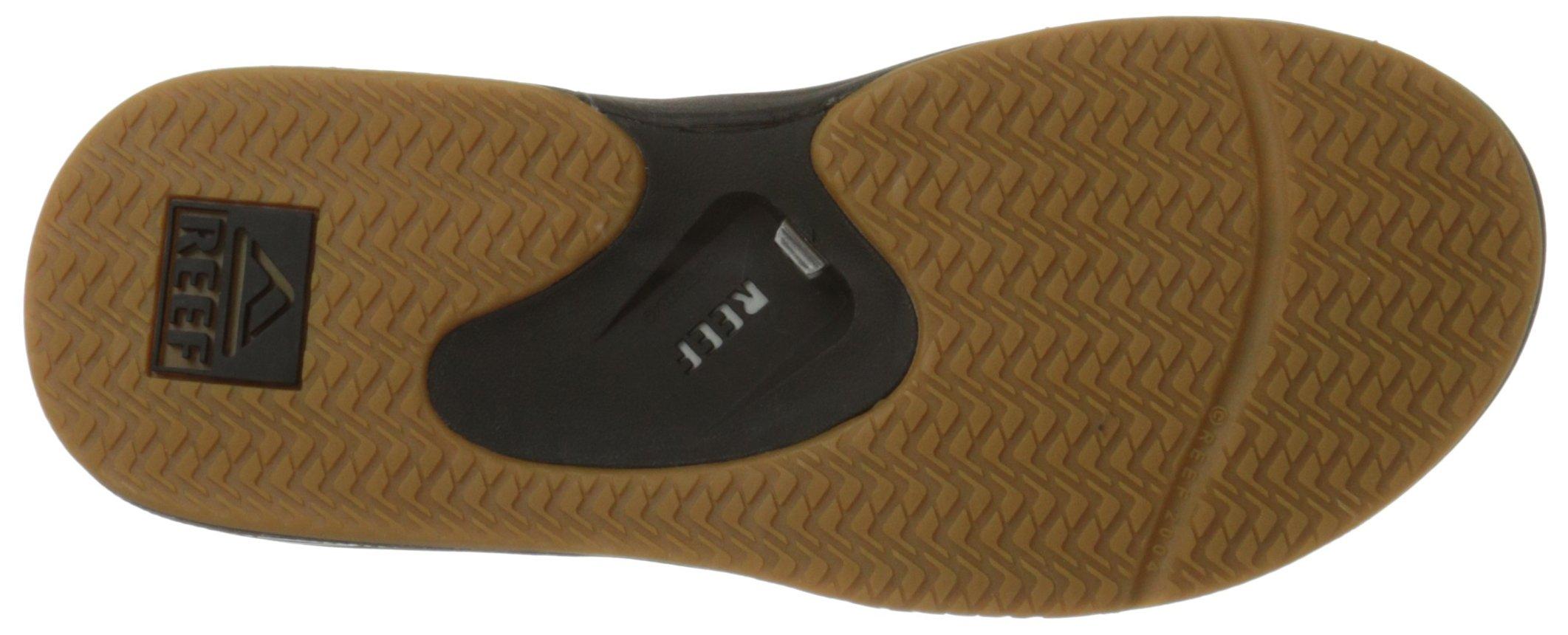 Reef Fanning Mens Sandals Bottle Opener Flip Flops for Men,Black/Silver,12 M US by Reef (Image #3)