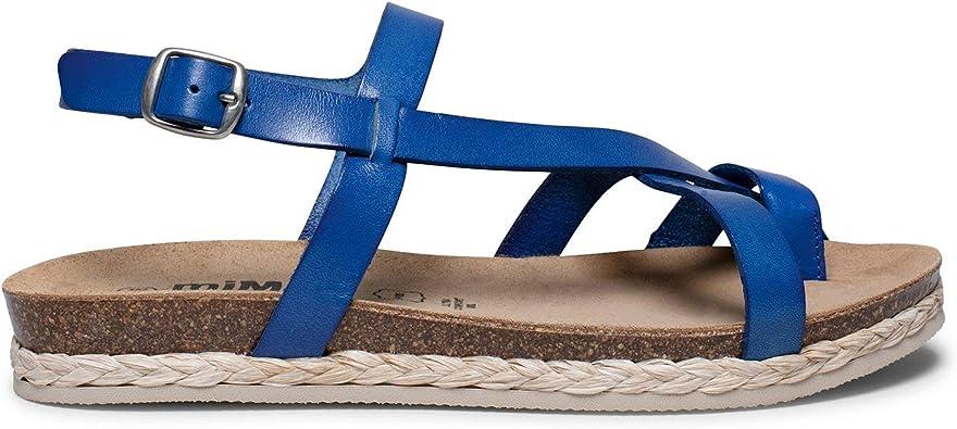 Zapatos miMaO. Zapatos Piel Mujer Hechos EN ESPAÑA. Sandalia Plana Bio Mujer. Sandalia de Tiras Cómoda con Plantilla UltraConfort Gel: Amazon.es: Zapatos y complementos