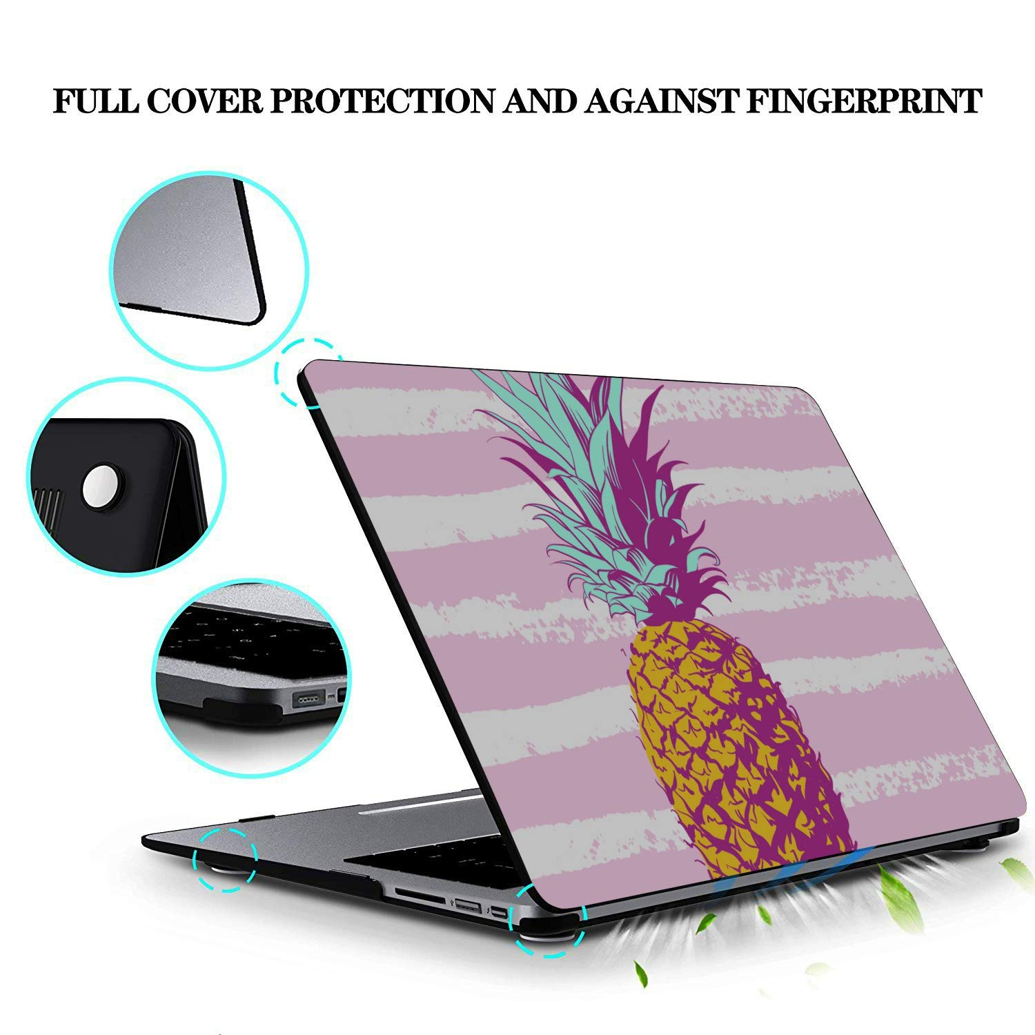 MacBook Air Case 13 Sour Sweet Yellow Fruit Pineapple Plastic Hard Shell Compatible Mac Air 11 Pro 13 15 MacBook 2018 Case Protection for MacBook 2016-2019 Version