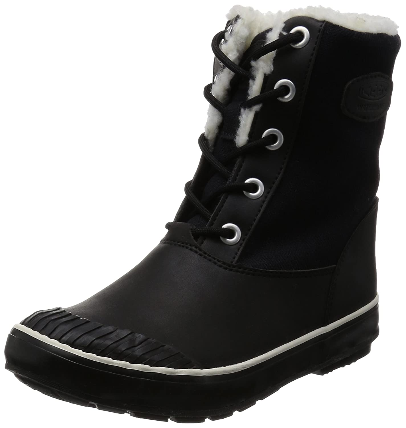 Black KEEN Women's Elsa L WP Mid Calf Boots