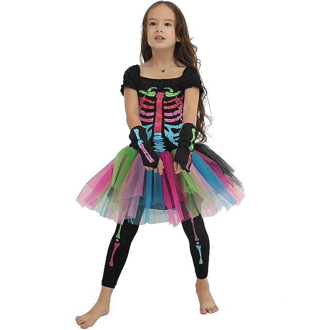Amazon.com: EraSpooky - Disfraz de huesos punky para niñas ...