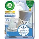 Airwick Plug In Scented Oil , Crisp Linen, 1 Warming Device + 1 Refill, air freshener