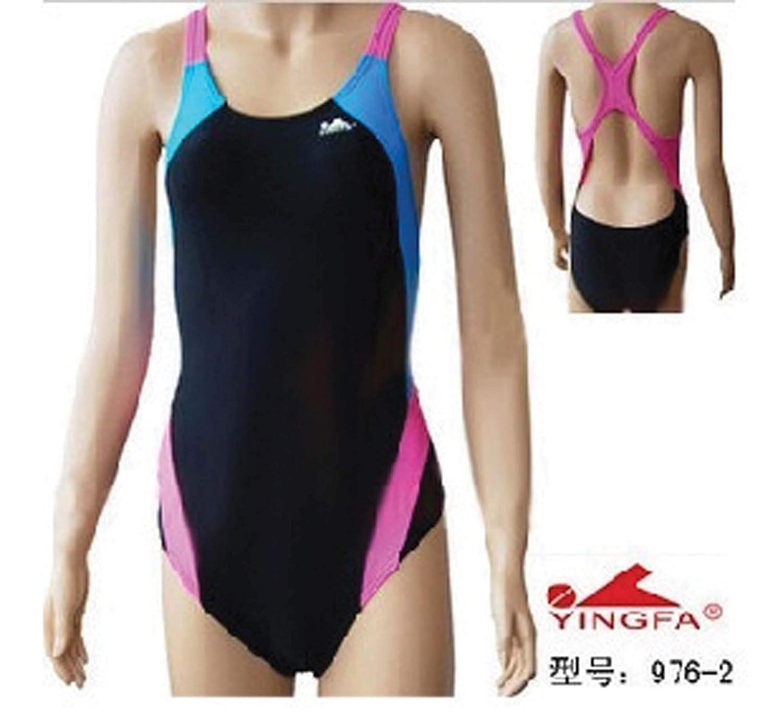 2998268a7f8 Amazon.com : YingFa One Piece Training Swimsuit for Girls -Training and Racing  Swimsuit Girl's Size 8-10/Speedo Size 28/China Size M 976-2 Swimsuit :  Sports ...