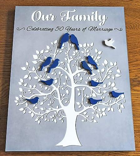 Amazon Com 50th Anniversary Gift For Parents Family Tree Kit