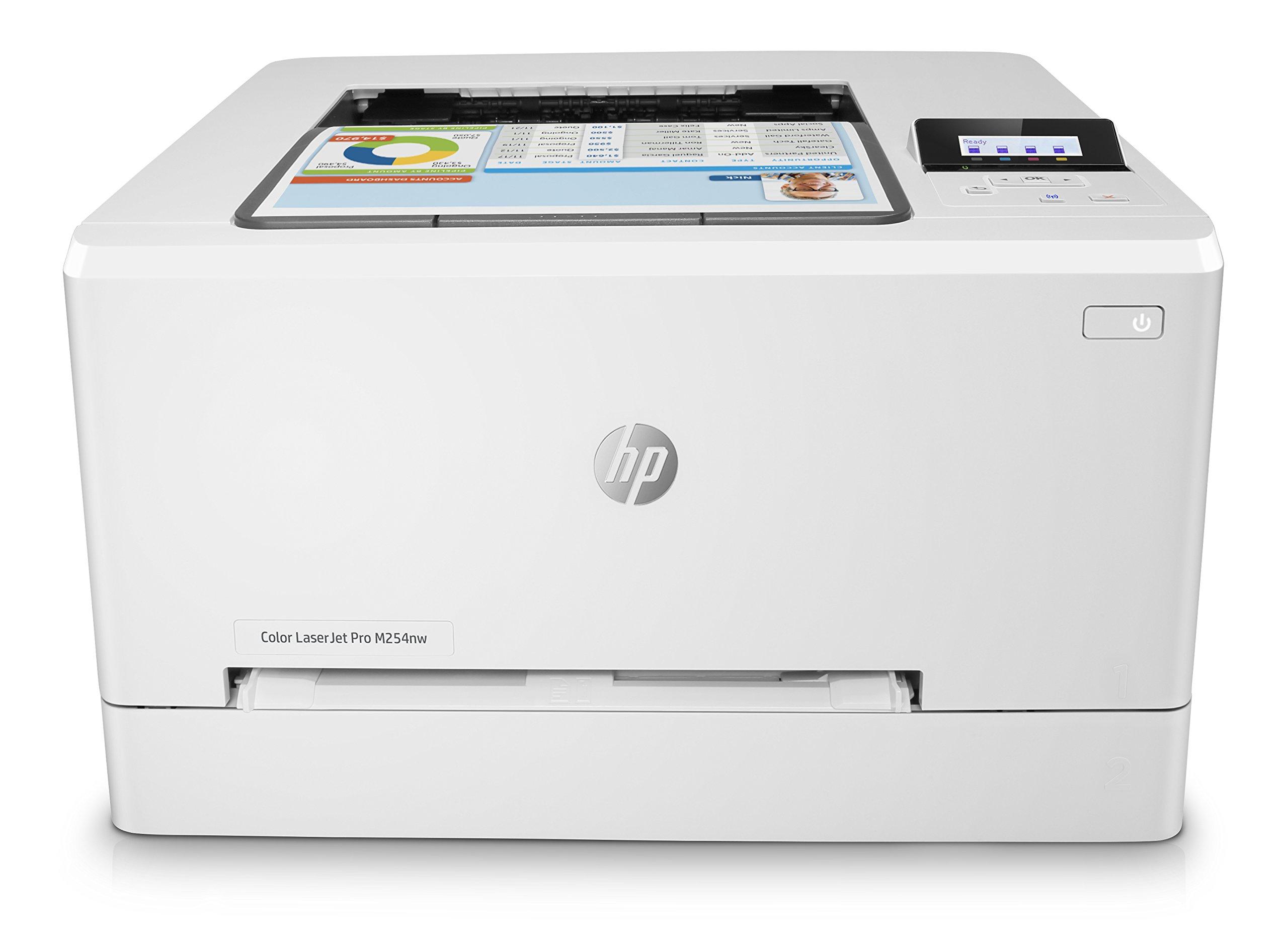 HP Laser Jet Pro M254nw - Impresora Color láser (hasta 21 ppm, ethernet y