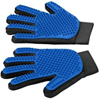 Slowton Guantes removedores de Pelo para mascotas (sólo 2 guantes), cepillo de Deshedding suave guante, removedor de…