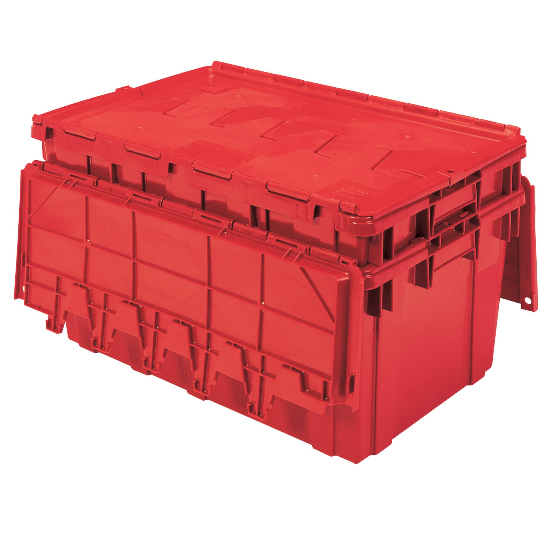 Buckhorn AR2717120202000 Attached Lid Flip Top Storage and Distribution Plastic Tote, 27-Inch x 17-Inch x 12-Inch, Red by Buckhorn