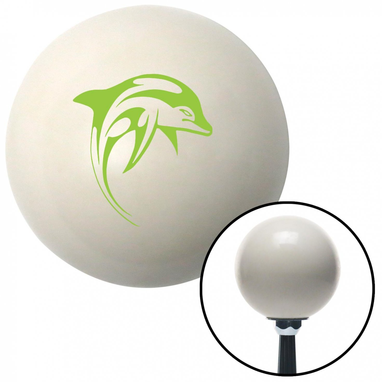American Shifter 41165 Ivory Shift Knob with 16mm x 1.5 Insert Green Dolphin