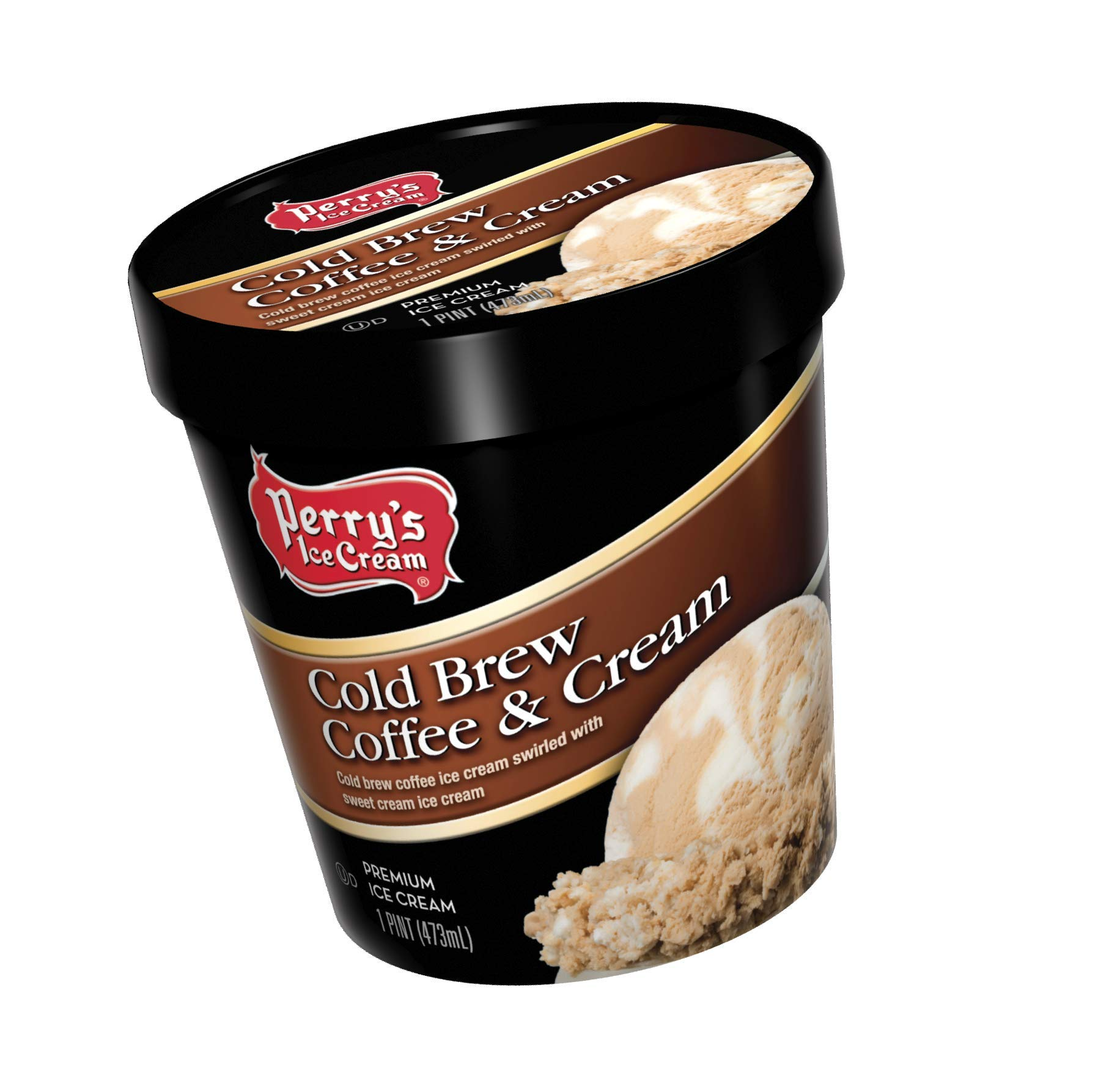 Perry's Ice Cream, Pint, Premium, Cold Brew Coffee & Cream - Pack of 8