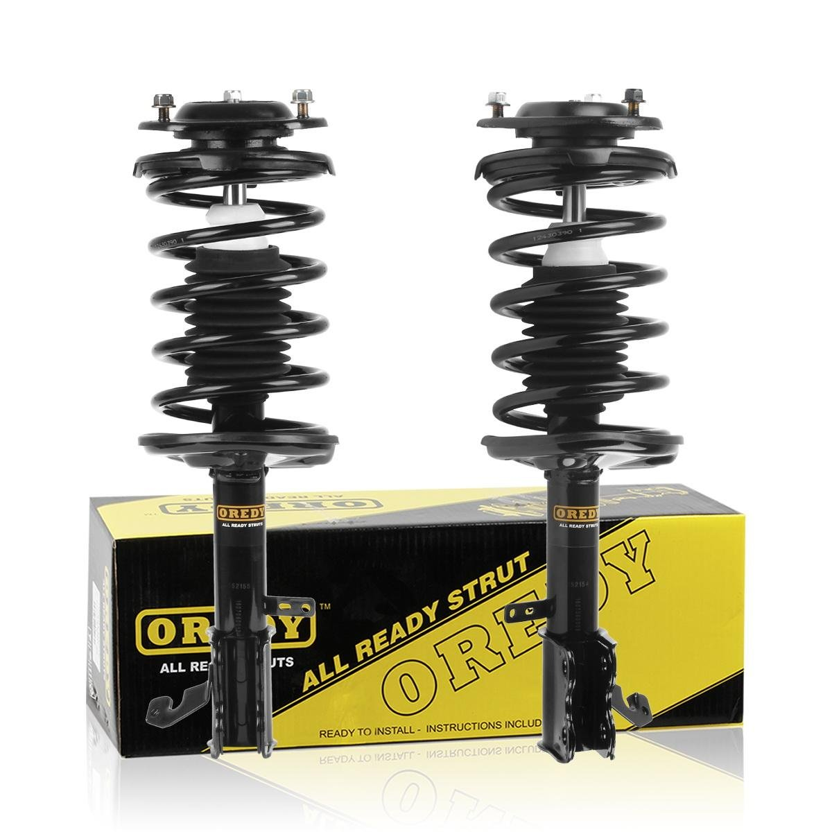 OREDY Front Pair 2Pieces Complete Struts Assembly Shock Coil Spring Assembly Kit 171951 171952 11442 11441 Compatible with Geo Prizm 1993 1994 1995 1996 1997