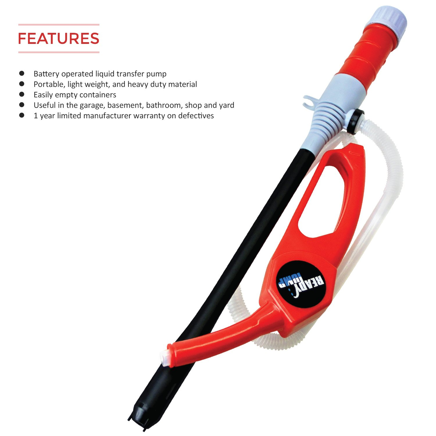 TERA PUMP 2D Baterry Hand Fuel Pumps with Easy Handle