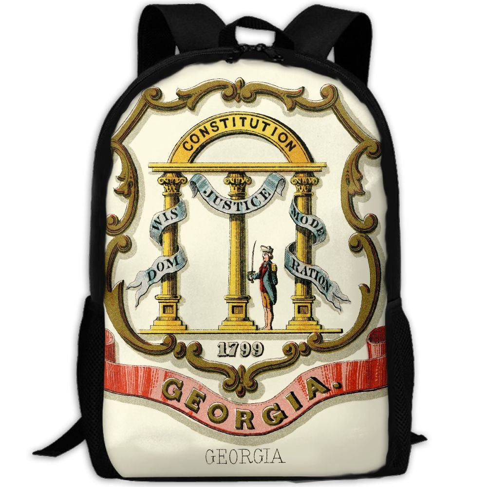 ZQBAAD Georgia State Coat Of Arms Luxury Print Men And Women's Travel Knapsack