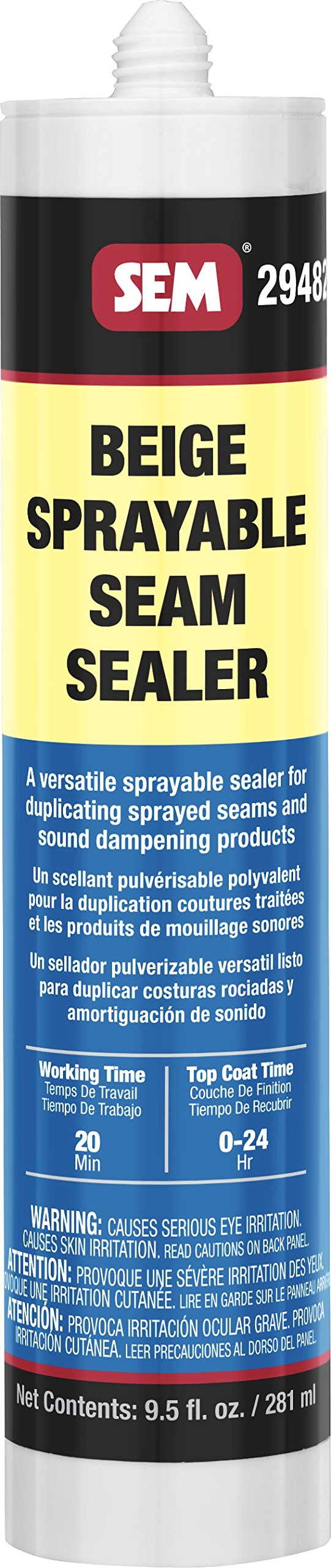 SEM 29482 1K Beige Seam Sealer, 9.5 oz. by SEM