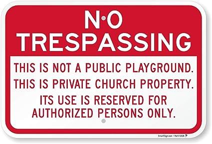 Amazon.com: No Trespassing: este producto no es un parque ...