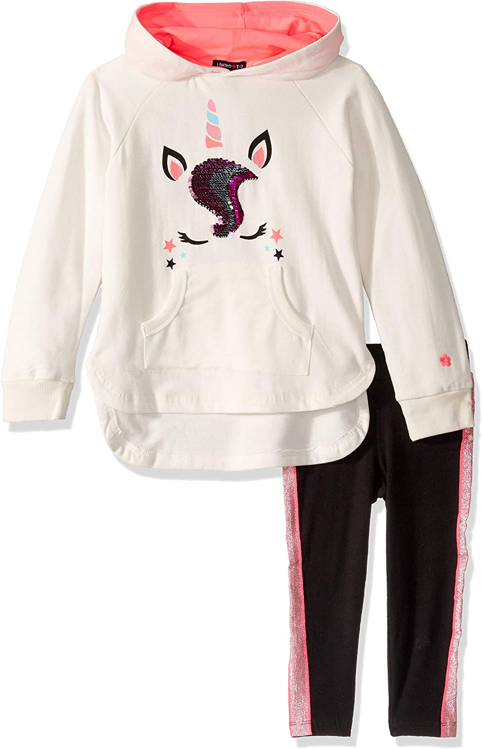 Limited Too Girls 2 Piece Fashion Fleece Hoodie and Legging Set