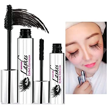4D Mascara Cream, CINIDY Makeup Lash Cold Waterproof Mascara Eye Black Eyelash Extension Crazy Long