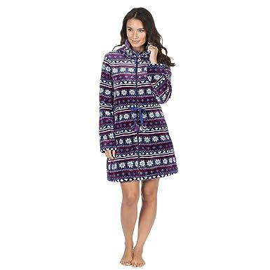 Forever Dreaming Ladies Fairisle Fleece Bed Jacket - Zip Up House ...