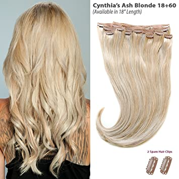 Amazon Com Cynthia S Ash Blonde Balayage 18 60 Clip In Hair