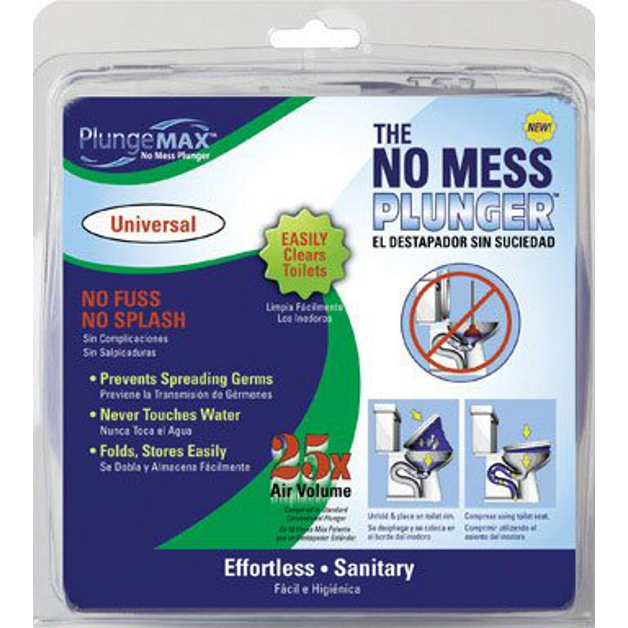 PF Waterworks PF0501 PlungeMAX No Mess Sanitary Toilet Plunger