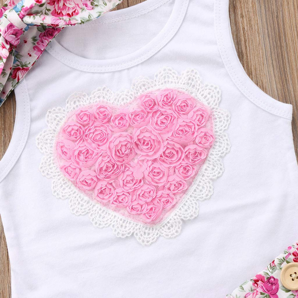 0-4 Years Sayolala Baby Girls Shorts Set Newborn Infant Toddler Kids Floral Sleeveless Dress Romper Sister Matching Outfit