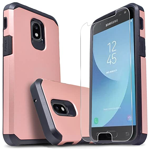 size 40 a5631 f1b1e Samsung Galaxy J3 Orbit, Galaxy J3 V 3rd Gen, J3 Achieve, J3 Star, J3 Aura,  Sol 3, Express Prime 3, Amp Prime 3 Case, With [Premium Screen Protector],  ...