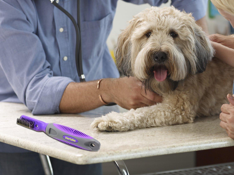 Hertzko - Peine cortanudos - Ideal para eliminar nudos, enredos, marañas y pelo muerto - Apto para perros y gatos: Amazon.es: Productos para mascotas
