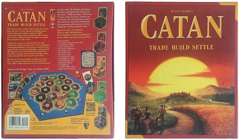 Hehilark Catan Family Fun Game Card - Juego de Cartas temáticas: Amazon.es: Hogar