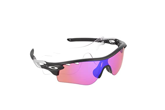 Oakley Mens Radarlock Prizm Trail Sunglasses One Size Polished Black Prizm  Trail and Clear VTD 6a592b98f