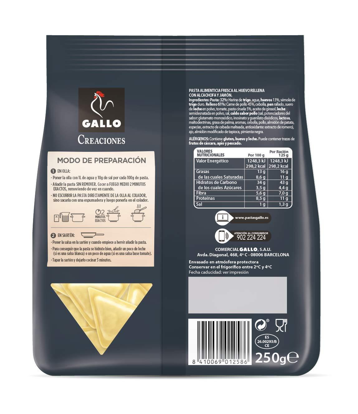 Pasta fresca - Triángulos de alcachofa con jamón: Amazon.es: Alimentación y bebidas