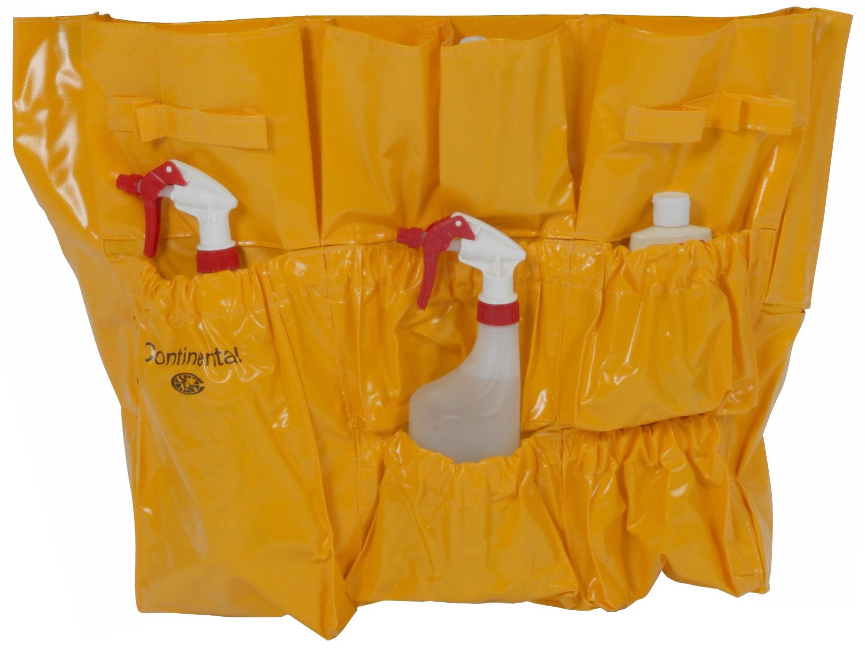 Continental 3175, Vinyl Yellow Caddy Bag, 22'' Width x 19-1/2'' Height, for Huskee Round and Square Containers (Case of 6)