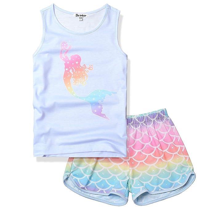 Amazon.com: Jxstar Conjunto de pijamas de unicornio para ...