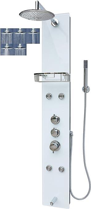 Panel de ducha de cristal ducha panel columna de ducha con cristal ...