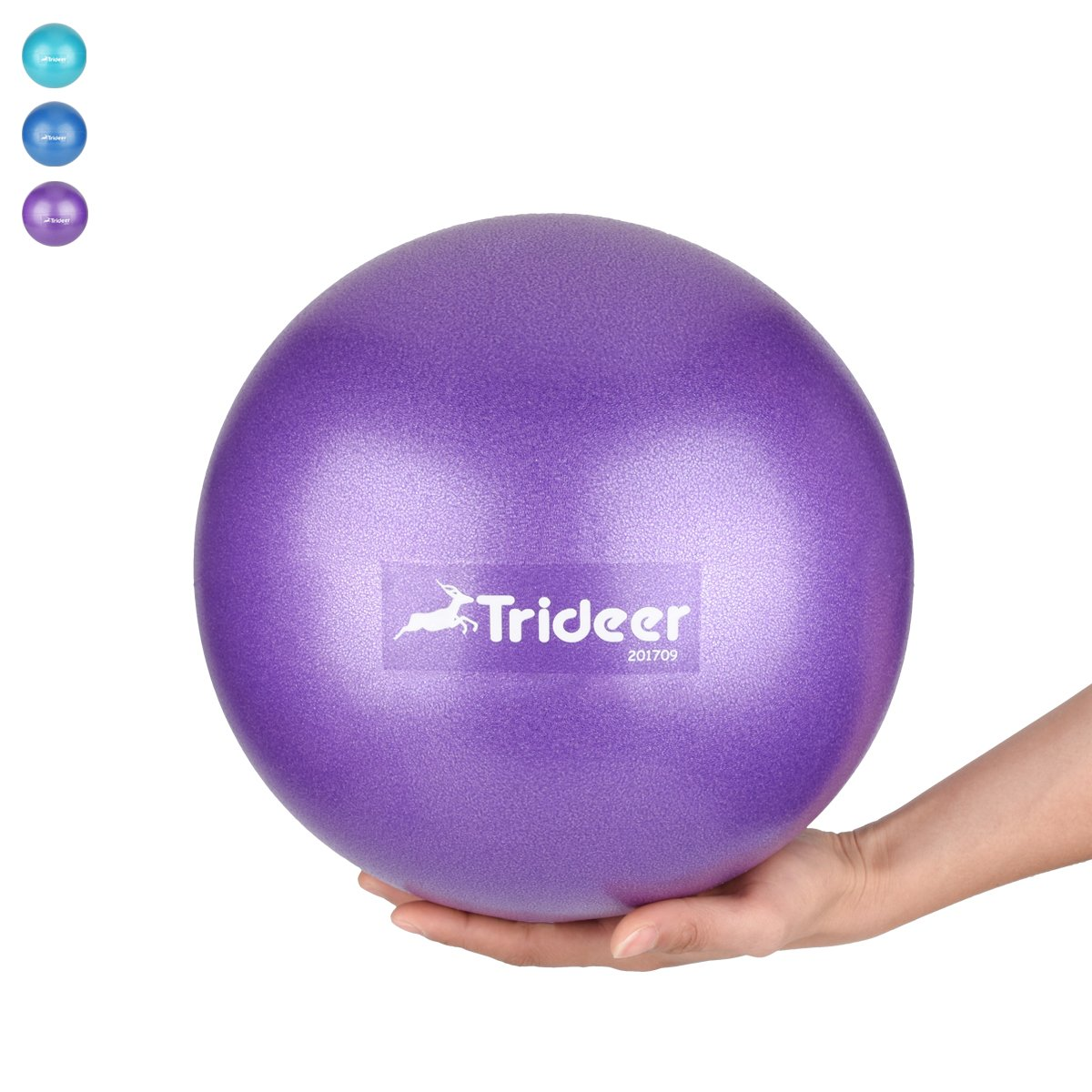 Mini Exercise Ball, Barre Ball, 9 Inch Small Bender Ball, Pilates, Yoga, Core Training and Physical Therapy, Improves Balance, Core Strength & Posture (Home & Gym & Office) (Purple (23cm))